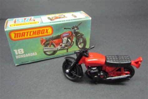 matchbox honda matchbox 18 hondarora mint in box vintage matchbox honda