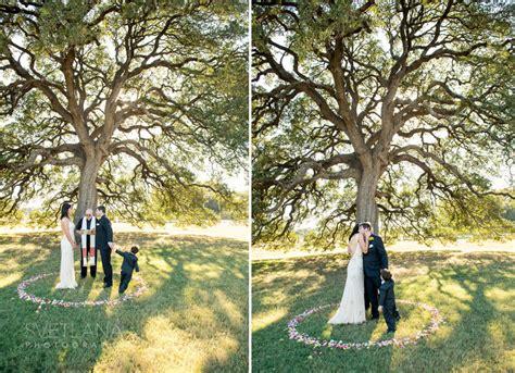 cellars wedding fredericksburg oak tree ceremony