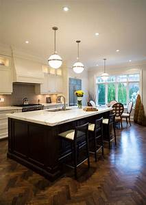 35, Striking, White, Kitchens, With, Dark, Wood, Floors, Pictures