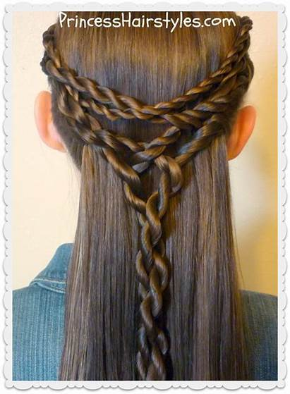 Tie Hairstyle Hair Hairstyles Half Twists Tangled