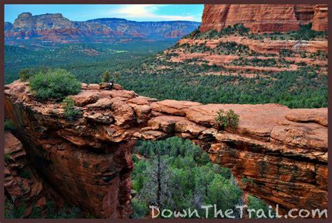 hike  devils bridge trail  sedona  falling