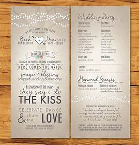 long skinny wedding programs with non tradition ceremony With wedding program wording ideas