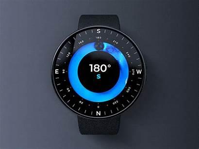 Compass Futuristic Face Ui 3d Dribbble Concept