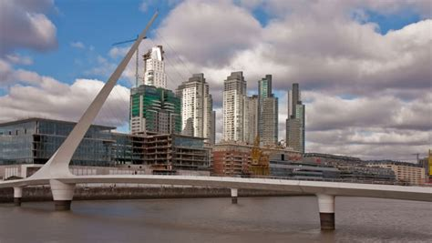 Once Building In Buenos Aires Arg by Quot Puente De La Mujer Quot A Modern Footbridge In Madero