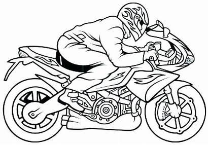 Coloring Motorcycle Police Getdrawings