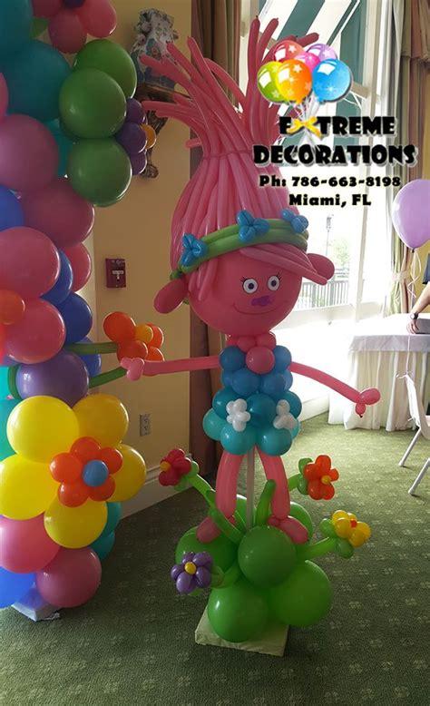trolls theme balloon sculpture trolls birthday party idea