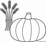 Coloring Thanksgiving Wheat Pumpkin Sheaf Halloween Pumpkins Fruits Vegetables Bigactivities Activity Pages Happy 2009 Lantern Jack sketch template
