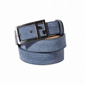 Fendi Classic Belt Suede W: 2.8 Cm L: 124 Cm in Blue for ...