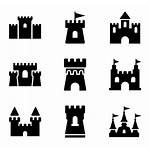 Icon Fortress Castle Castles Vector Icons Packs