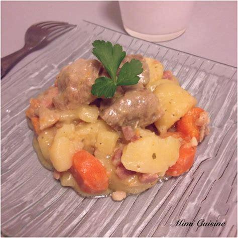 cuisiner le sauté de porc sauté de porc roquefort pommes de terre carottes cookeo