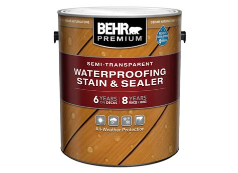 Behr Semi Transparent Stain And Sealer