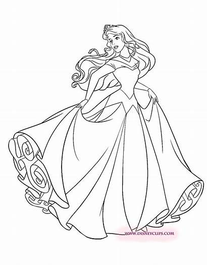 Aurora Princess Drawing Disney Sleeping Draw Coloring