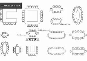 Conference Tables CAD Blocks Free Elevation AutoCAD