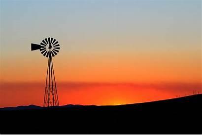 Spokane Windmill Scenery Valley Sunset Drummond Gorgeous
