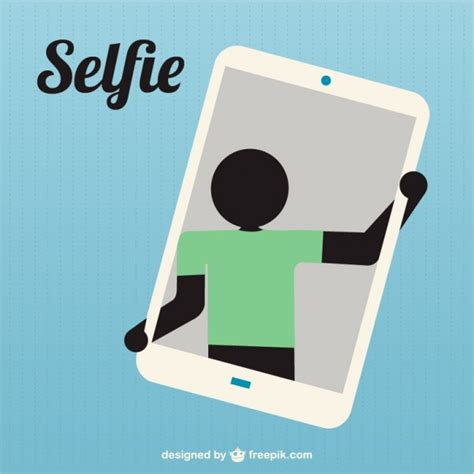 selfie graphic 15 silhouette taking selfie icon vector free