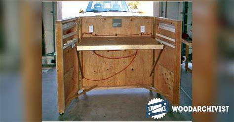 portable carving station plans woodarchivist