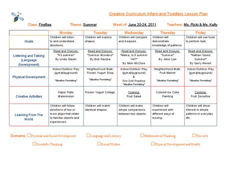 emergent curriculum preschool lesson plan template