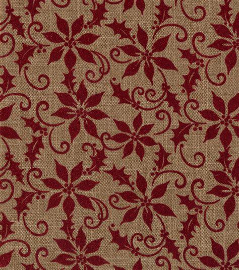 holiday inspirations christmas fabric linen  flocked