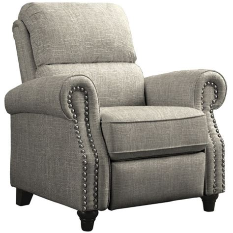 push back recliner chair brown paisley or barley