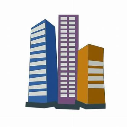 Estate Icon Vector Buildings Clipart Office Illustration