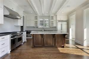31 quot quot custom white kitchens with wood islands