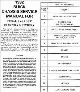 1982 Buick Shop Manual Lesabre Riviera Regal Electra