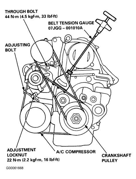 1997 honda prelude serpentine belt routing and timing belt