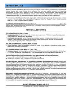 it systems administrator resume exles microsoft certified system administrator resume