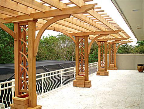 cantilevered deck pergola  ctp  trellis structures