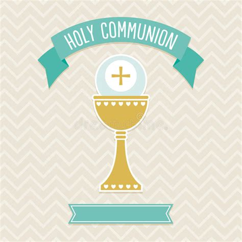 Holy Communion Card Template Stock Vector Illustration