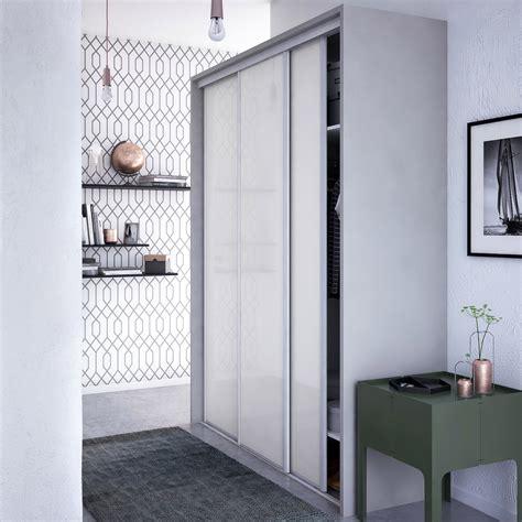 porte placard coulissant leroy merlin porte de placard coulissante laqu 233 blanc spaceo l 67 x h 250 cm leroy merlin