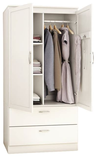 South Shore Libra Dresser White by South Shore Acapella Transitional Style Wardrobe Armoire