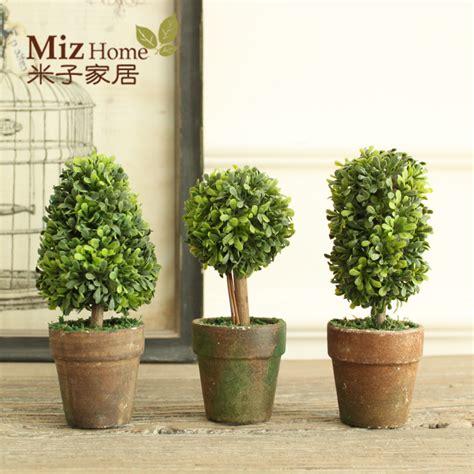 miz home 1 set 3 botton mini artificial plant decor