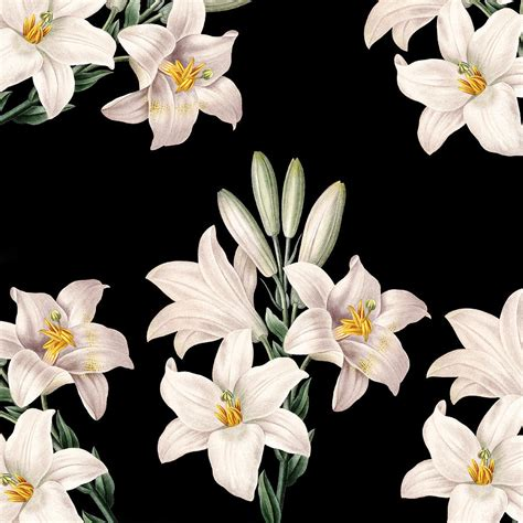 white lilies photograph by p s