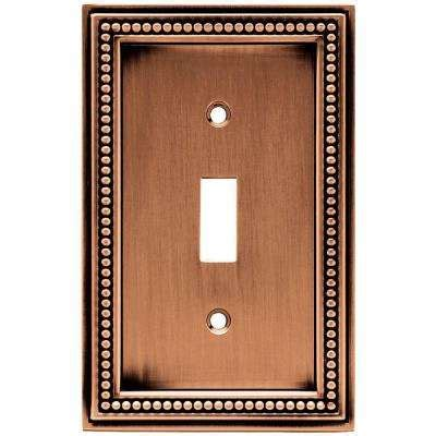 century steel 1 toggle wall plate antique copper switch plates wall plates the home depot