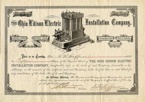 Edison Electric Light Company by Ohio Edison Electric Installation Company Incorporated