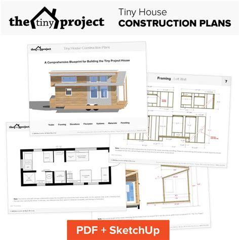 tiny house  wheels floor plans blueprint