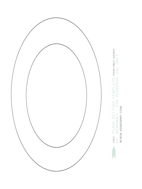 Place Setting Template Template Free Templates Place Setting Template Place