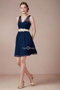 navy blue short bridesmaid dress with strapscherry marry With navy blue dress for wedding