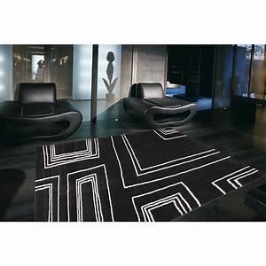 Tapis Scandinave Noir Et Blanc : tapis arizona moderne noir et blanc 160x230 ~ Melissatoandfro.com Idées de Décoration