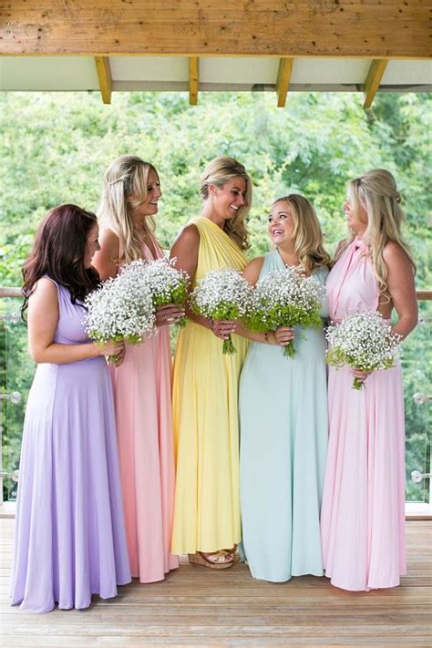 pastel wedding colors pastel color bridesmaid dresses ideas
