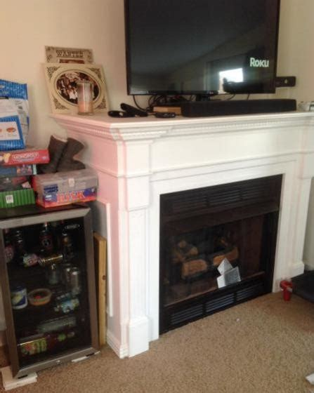 removing ventless gas fireplace  mantel doityourself
