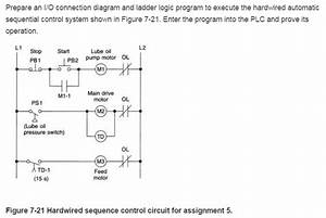 Solved  Prepare An I  O Connection Diagram And Ladder Logic