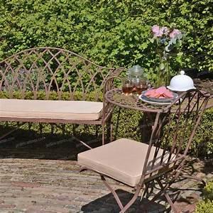 Salon De Jardin En Fer : salon de jardin sophia en acier style fer forg mobilier de jardin ~ Teatrodelosmanantiales.com Idées de Décoration