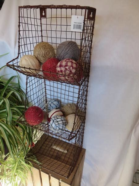 country farmhouse general store wire wall binbasket