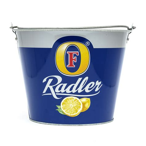 fosters radler ice bucket metal branded home bar pub