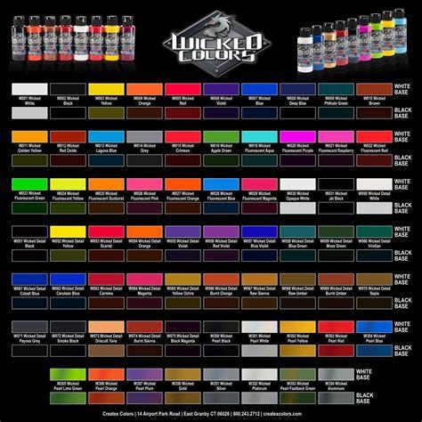 AutoAir Color Charts  Airbrush Paint Direct