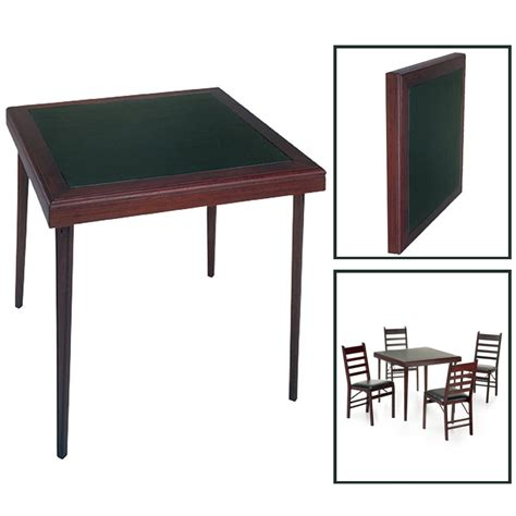 cosco mahogany folding table and chairs object moved