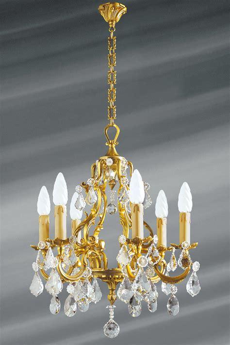 lustre pilles en cristal de boh 232 me louis xv six lumi 232 res lucien gau luminaires classiques