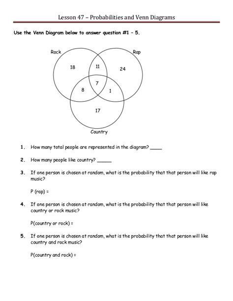 Venn Diagram Probability Question by Venn Diagrams Advandced Math Problem With Solution